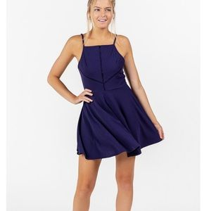 Francesca's size medium navy blue dress